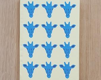 Blue Giraffe Notebook