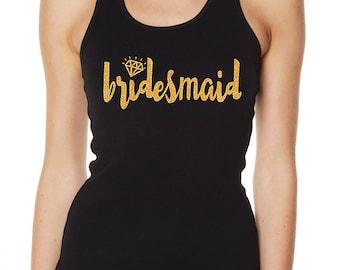 Hens Night Bachelorette Bridal Shower Iron-On Glitter Transfer - Bridesmaid