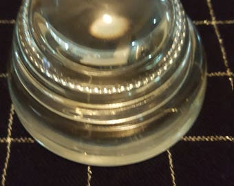 Vintage glass dome paperweight with magnifier