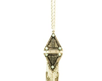 sautoir /long collier / long necklace silver stainsteel