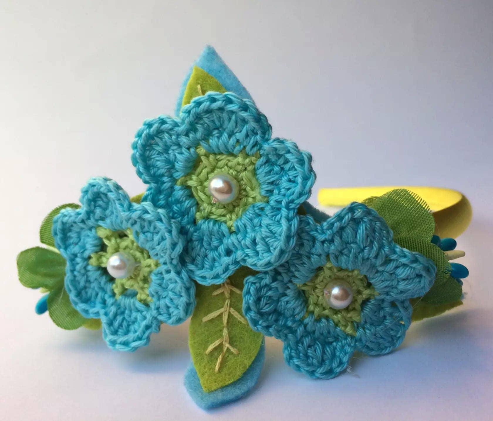 Blue flower headband flower girl flower crown flower hairpiece blue flower headband flower girl flower crown flower hairpiece flower hair izmirmasajfo