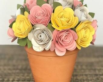 Paper Flower, Misslivibugs Paper Flowers, Bridal Shower Flowers, hypoallergenic, Baby Shower Flowers , paper flower decor , allergy free