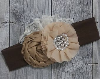 Autumn Headband/Baby Headband/Thanksgiving/Infant Headband/Baby Girl Headband/Girl Headband Baby/Toddler Headband/Baby Couture/nylon