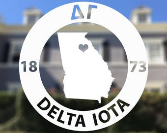 Delta Gamma Decal - Sorority Decal - State Personalized Decal Laptop Sticker - Big Little Sister Car Decal - Delta Gamma Sticker - DG Greek