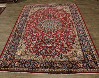 Lovely Traditional Hand Knotted Najafabad Persian Area Rug Oriental Carpet 9X13