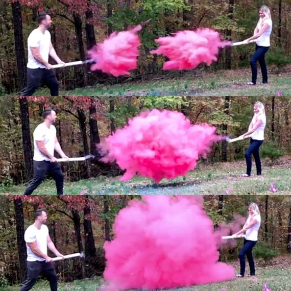 "24"" SMOKE POWDER CANNON ™ Gender Reveal Smoke Powder Cannons! New Gender Reveal Idea!"