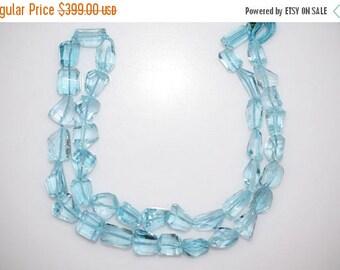 50% OFF Sky Blue Topaz Faceted Nugget Briolette - Sky Blue Topaz Faceted Tumble Beads , 7x11 - 9x15 mm,  BL778