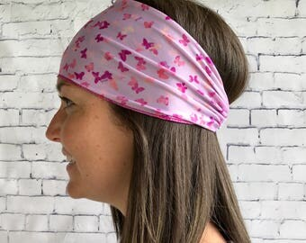 Purple sports head band with tie, headband, accessory woman