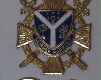 Vintage Semper Paratus Charm, Pin, Decoration, Coast Guard, Metal Military Jewelry, Coast Guard, Cutter, Rescue, Pendant