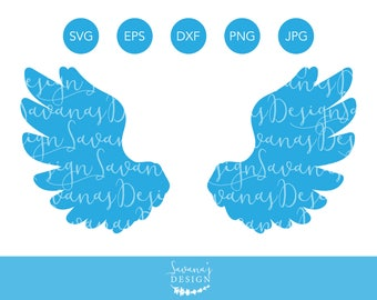 Wings SVG, Angel Wings SVG, Wings SVG Files, Wings Vector, Vector Wings, Svg Wings, Svg Angel Wings, Wings Dxf, Wings Clipart, Angel Svg