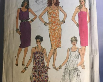 7494 Simplicity Easy To Sew Dresses Three Lengths Sizes 10-14