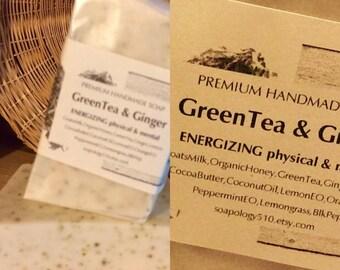 GreenTea & Ginger Natural Soap