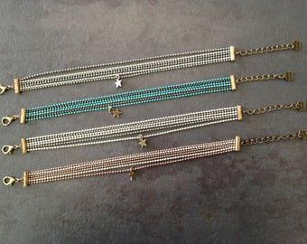 Bracelet chains ball: sweet starry.