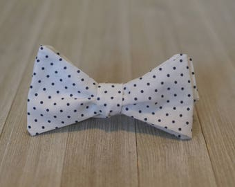 The Navy Dots Bow Tie | Father Son, Matching Bow Tie, HANDMADE CUSTOM ORDER, Pre-Tie or Self-Tie | Mens, Boys, Toddler or Baby