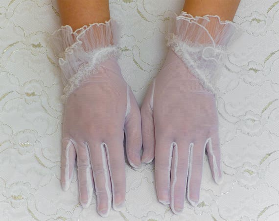 Long gloves, White wedding gloves, bridal gloves, elbow gloves, long gloves