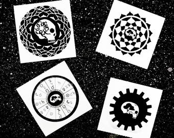 Space skull stickers*