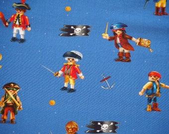 Pirates and captains - Royal blue background