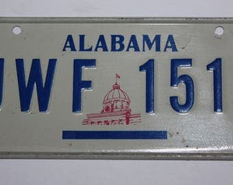 1970's Alabama Heart of Dixie Wheaties Post Cereal Premium Bike Mini Metal License Plate
