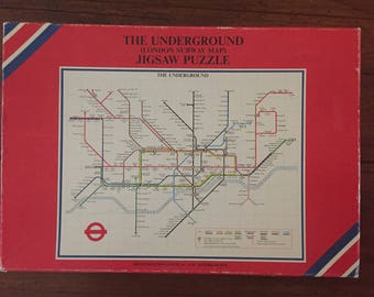 Vintage THE UNDERGROUND (London Subway Map) Jigsaw Puzzle