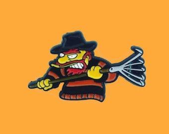Groundskeeper Willie simpsons halloween enamel pin badge homer