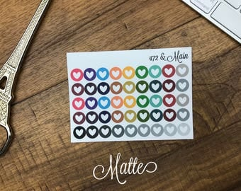 Dots | Hearts | Planner Stickers