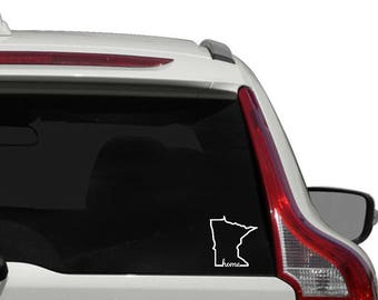 Minnesota home vinyl decal - outline state of Minnesota car decal - Minnesota decal - Minnesota decal - State Decal - Vinyl Decal