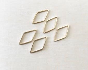 Diamond Stitch Markers Set of 5  | Snagless