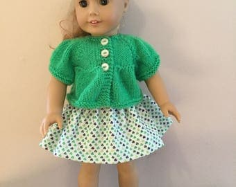 St. Patricks Day outfit for American Girl Dolls