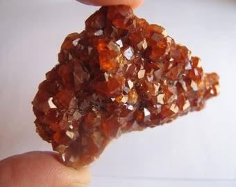 Spessartite Garnet Crystal Cluster