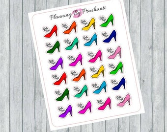 Girls Night Out High Heel Shoes Bachelorette Planner Stickers - For Erin Condren Life Planner or Happy Planner