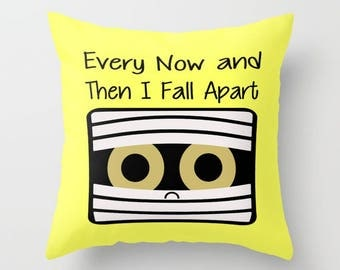 Mummy Pillow, Pillow Cover, Pillow Case, Halloween Pillow, Funny Pillow, Humor Pillow, LOL Pillow, Yellow Pillow, Cute Pillow, Halloween LOL