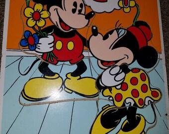 Walt Disney Playskool Mickey and Minnie Puzzle