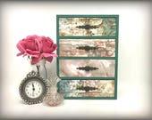 OOAK Hand Painted Jewelry Organizer Floral Jewelry Box Flowers Trinket Box 4 Drawer Pine Wood Jewelry Box Vintage Keepsake Box Cottage Decor
