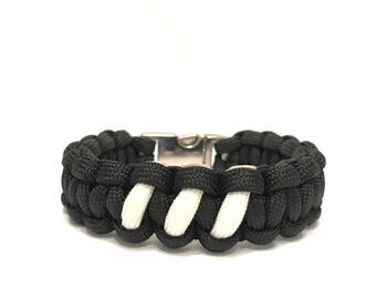 Three Stripe Yeezy Boost Mens Jewelry Limited Edition Paracord Survival Bracelet