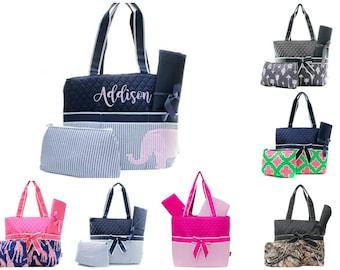 Personalized Diaper Bag Set - Monogram Diaper Bag - Baby Shower Gift - Personalized Baby Gift - Diaper Bag for Boy - Diaper Bag for Girl