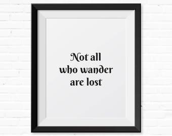 Travel Quote, Boho Decor, Wanderlust Printable, Gap Year, Poster, Digital Print, Instant Download, Desk Accessories, Minimalist