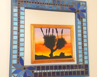 Mirror. Artisan flower mosaic mirror