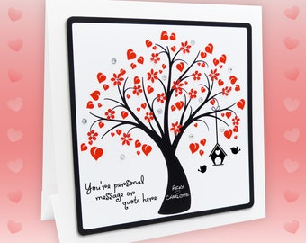 Valentines Card For Him For Her Personalised Wife Valentine Card Husband Valentines Card Girlfriend Valentine Card Boyfriend Valentines Card