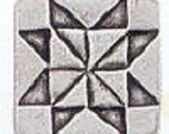 Quilt button SAWTOOTH STAR Danforth pewter shank button