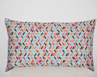 Pillow cover - 50 x 30 cm - Double sided - tones multicolors - ethnic trend