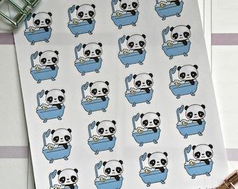 Anna the panda mini stickers - Bath