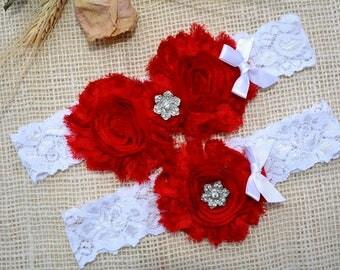 Red Wedding Garter, Valentines Day Gift, Garter Set, Bridal Clothing, Garter For Wedding, Garter For Brides, Lace Garter Red, Keep Garter