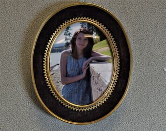4 x 5 Oval Photo Picture Frame with Convex Glass