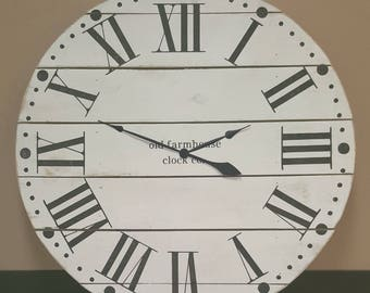 "24in ""Maxwell"" farmhouse wall clock - Oversized farmhouse wall clock - large clock - big clock - farmhouse decor -"