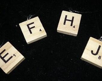 Scrabble Alphabet Necklaces