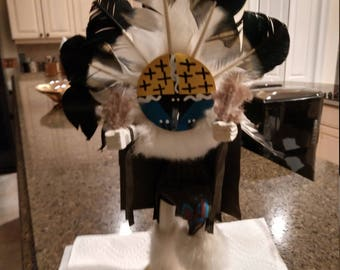 FREE SHIPPING, Chief Native American Doll