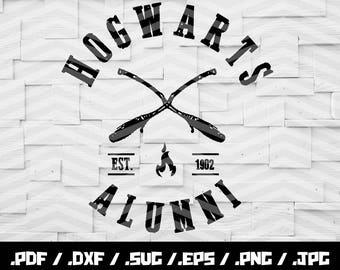 Hogwarts Alumni SVG, Harry Potter SVG, Hogwarts svg, svg Cutting File, Cricut svg, Silhouette svg, Cutting Files,