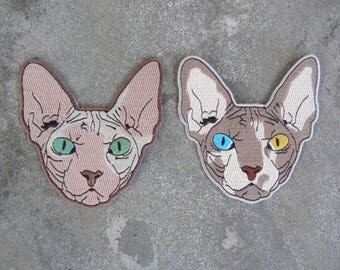 Sphynx Cat + Sphynx Cat II Patches 2-Pack