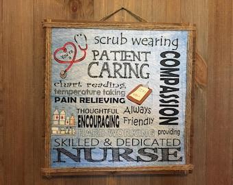Nurse Gift, Nurse, Personalized Nurse Gift, Nurse Decor, Dr Office Decor, Wall Art, Inspirational, Nurse Sign, Home Decor
