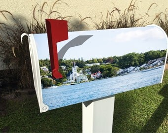 Mackinac Village Magnetic Mailbox Cover